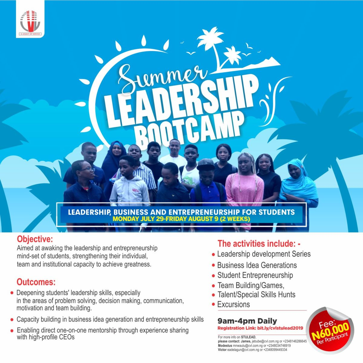 CVL Summer Leadership Bootcamp 2019